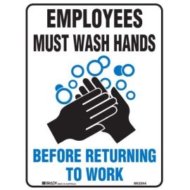 Wash Hands Employee Sign product photo