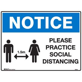 Sign Please Practise Social Distancing product photo
