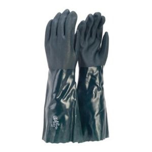 Glove, Double Dipped, PVC, Green, 45cm product photo