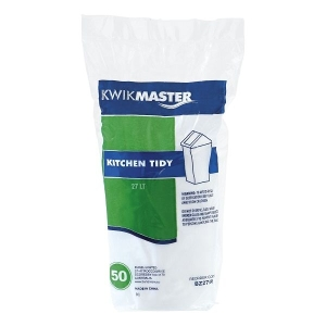 Bin Liner - Kitchen Tidy White 27L product photo