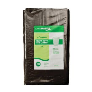 Bin Liner - Heavy Duty Black - Degradable 72L product photo