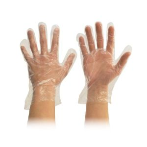 Food Handling Glove, Powder-Free, LDPE, Clear product photo