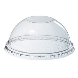Plastic Cup Dome Lid - PET No Hole 78mm product photo
