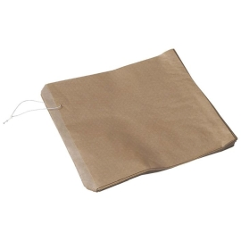 Flat Paper Bag Recycled Brown 2 Wide Strung product photo