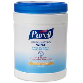 Hand Sanitising Wipes 270 Count Canister product photo